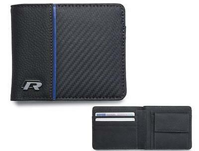 Genuine Volkswagen R leather wallet - black GTI TDI
