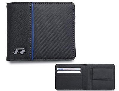 Genuine Volkswagen R leather wallet - black GTI TDI