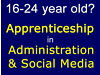 Apprenticeship in Administration & Social Media (for 16-24 year old to Earn & Learn) Stratford, London