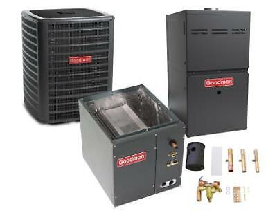 5 Ton 14.5 SEER 80% AFUE 100K BTU Goodman AC/Heat System - Upflow