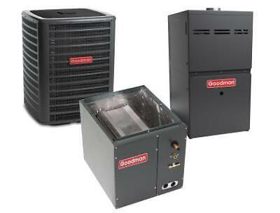 4 Ton 14.5 SEER 80% AFUE 80K BTU Goodman AC/Heat System - Upflow