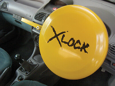 Car & Van Yellow Security Anti Theft Full Steering Wheel Wheel Lock Clamp Cover