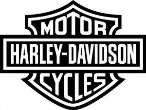 logo harley davidson cycle 22x40 noir
