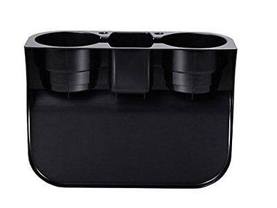 2 Cup Holder Drink Beverage Seat wedge Car Truck Tan /black Universal Mount 1x