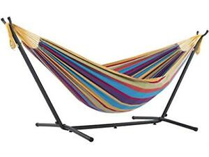 Vivere Double Tropical Hammock Combo with 9' Stand and Carry Bag