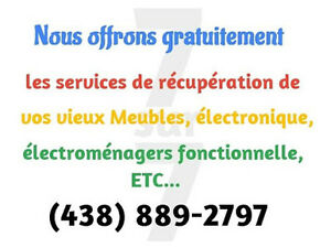 Gratuitement, Collecte de vos vieux électroménagers Free