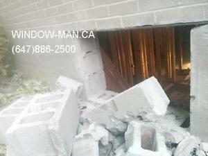 windows concrete egress door brick Cut sliding  contemporary or