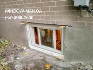 egress sliding windows concrete door brick Cut  Fair Price