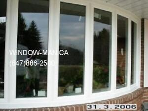 6-panels Bow Vinyl Window Replacement  Top Quality