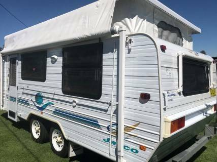 #1931, F/kitchen, Island bed, Heron A/C, Tandem, R/out awning