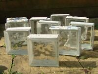 10 GLASS BLOCKS/BRICKS FOR SALE