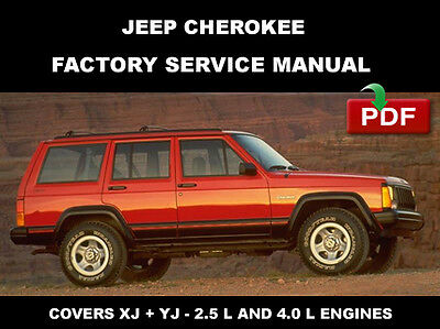 JEEP CHEROKEE 1984 - 1996  SERVICE REPAIR WORKSHOP MANUAL