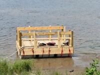 10x10 Floating Dock - with seats!