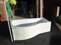Ideal Standard 'P' Shaped Bath and Shower Screen (FREE)