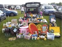 Have a number of boxed up ready to go items ideal for boot fare come over