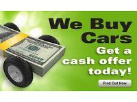We buy cars . Cash waiting