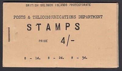 BRITISH SOLOMON Islands, 1959. Stamp Booklet 4/- SB1, Mint **