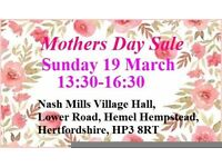 MOTHERS DAY TABLE TOP& BOOT SALE SUN 19 MARCH 1:30-4:30