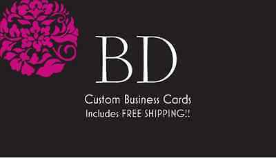 500 Custom Business Cards With Blank Backside