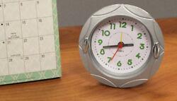4 Round Quartz Analog Alarm Clock...New in Box