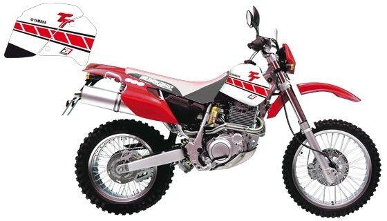 Adesivi Grafiche moto Yamaha TT 350 1987 – 1992 bianco – rosso in Crystall