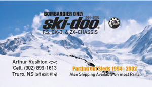 ***PARTING OUT SLEDS*** 1994-2002 SKI-DOO(BOMBARDIER ONLY)F, S,