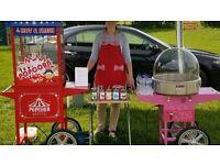 Popcorn&candy floss machine