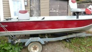 Sterling 14 foot aluminum boat & Trailer