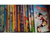 Assorted Beano, Bash Street Kids, Dennis the Menace annuals