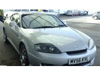 HYUNDAI COUPE 2.7 V6 SILVER 2006 only 69K 12 MONTHS MOT £1595