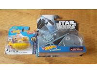 hotwheels star wars and Beatles submarine