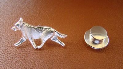 Small Sterling Silver Australian Cattle Dog Lapel Pin