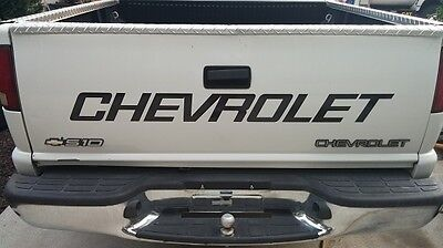 CHEVROLET TAILGATE DECAL 88-2000 Style Sized for Chevy S10 or Stepside Bed  Chevrolet S10 Styling