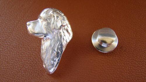Sterling Silver Newfoundland Head Study Lapel Pin