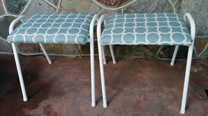 Two Lovely Vtge Stools (Pierrefonds)