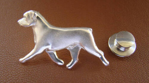 Sterling Silver Rottweiler Moving Study Lapel Pin