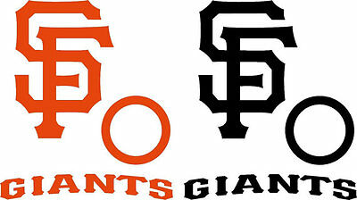 San Francisco Giants Cornhole Board Decal Kit- Bean Bag Toss Large 6 Piece Set San Francisco Giants Bean Bag