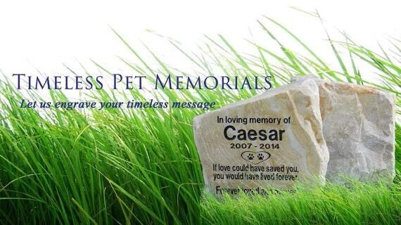 Personalized Stone Pet Memorial Headstone Marker Large Natural Stones