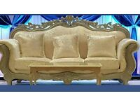 Silver sofa crushed velvet couch wedding