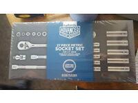 Brand New Halfords Advance 27 piece Socket Set, Lifetime Warranty, RRP £60