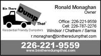 Bin There Dump That ,,, Residential Friendly Dumpsters Rentals