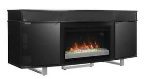 LORD SELKIRK FURNITURE  ENTERPRISE ELECTRIC FIREPLACE ENTERTAINMENT UNIT IN BLACK  $979.00