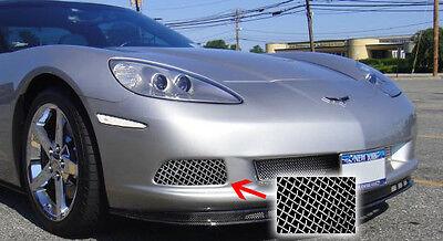 (C6 Corvette 2005-2013 Base Fog Light Grille Screens - Stainless Finish)