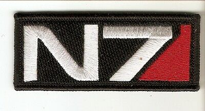 + MASS EFFECT Aufnäher Patch N7 Logo