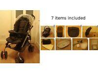 Mamas & Papas Pliko mod (7 items, pls see pics) pushchair stroller pram push chair - £60 ono
