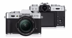 Fujifilm X-T10 (Silver) with 16-50mm lens. Long warranty, fully boxed with receipt, like new.