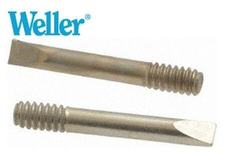 """Original Weller MT2 Chisel Shaped Solder Tip 1/8""""Dia-2 TIPS PER BAG For SP23"""