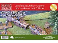 PLASTIC SOLDIER COMPANY WW2 German SdKfz Halftrack & 37 Figures 1/72 4 Pack WW2V20016