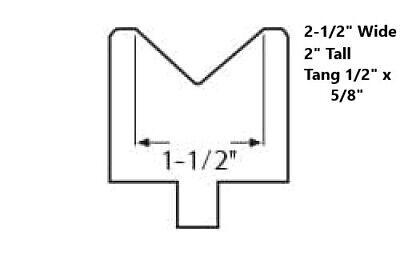 "Acute 75 D Durometer 5//8/"" x 24/"" Long 30 Degree Polyurethane Press Brake Die"