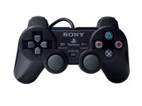 playstation 2 dualshock 2 wired controller black (pre-owned)